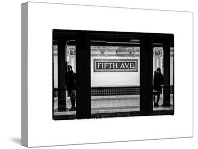 Moment of Life in NYC Subway Station to the Fifth Avenue - Manhattan - New York City-Philippe Hugonnard-Stretched Canvas Print