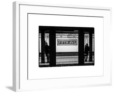 Moment of Life in NYC Subway Station to the Fifth Avenue - Manhattan - New York City-Philippe Hugonnard-Framed Photographic Print