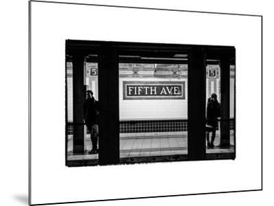 Moment of Life in NYC Subway Station to the Fifth Avenue - Manhattan - New York City-Philippe Hugonnard-Mounted Photographic Print