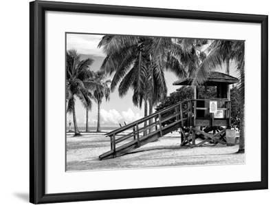 Life Guard Station - Miami - Florida-Philippe Hugonnard-Framed Photographic Print
