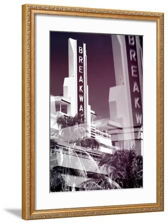 Instants of Series - Art Deco Architecture of Miami Beach - The Esplendor Hotel Breakwater-Philippe Hugonnard-Framed Photographic Print