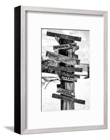 Directional Fun Signs on the Beach - Florida-Philippe Hugonnard-Framed Photographic Print