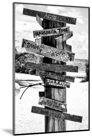 Directional Fun Signs on the Beach - Florida-Philippe Hugonnard-Mounted Photographic Print