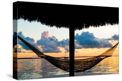 The Hammock at Sunset - Miami - Florida-Philippe Hugonnard-Stretched Canvas Print