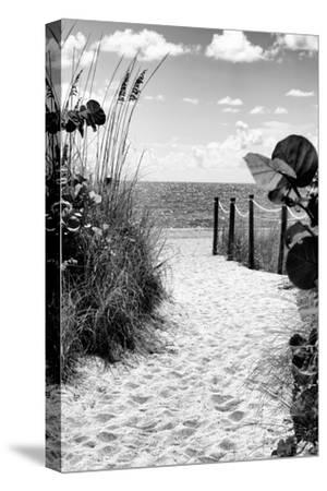 Boardwalk on the Beach - Miami - Florida-Philippe Hugonnard-Stretched Canvas Print