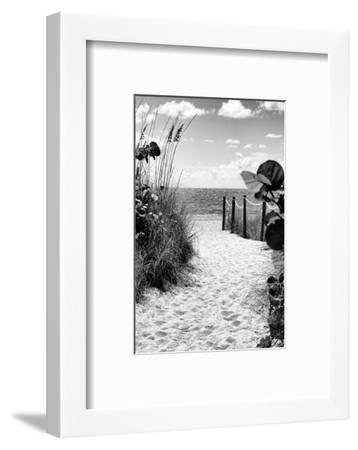Boardwalk on the Beach - Miami - Florida-Philippe Hugonnard-Framed Photographic Print