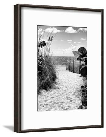 Boardwalk on the Beach - Miami - Florida-Philippe Hugonnard-Framed Premium Photographic Print