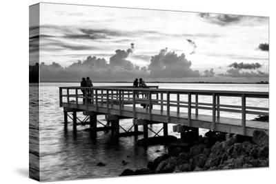 The Pier at Sunset Lovers-Philippe Hugonnard-Stretched Canvas Print