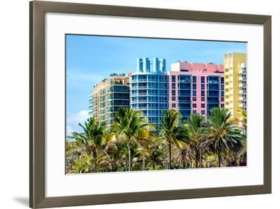 Art Deco Colors Architecture of Miami Beach - South Beach - Florida-Philippe Hugonnard-Framed Photographic Print