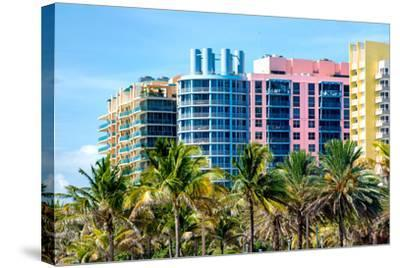 Art Deco Colors Architecture of Miami Beach - South Beach - Florida-Philippe Hugonnard-Stretched Canvas Print