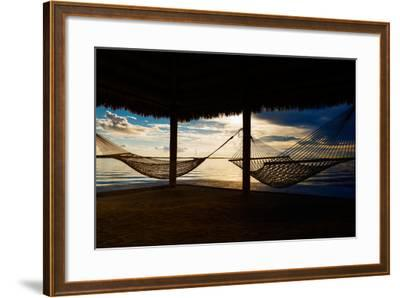 Two Hammocks at Sunset - Florida-Philippe Hugonnard-Framed Photographic Print
