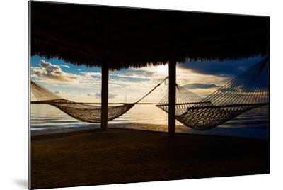 Two Hammocks at Sunset - Florida-Philippe Hugonnard-Mounted Photographic Print