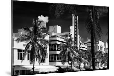 Art Deco Architecture of Miami Beach - The Esplendor Hotel Breakwater South Beach - Ocean Drive-Philippe Hugonnard-Mounted Photographic Print