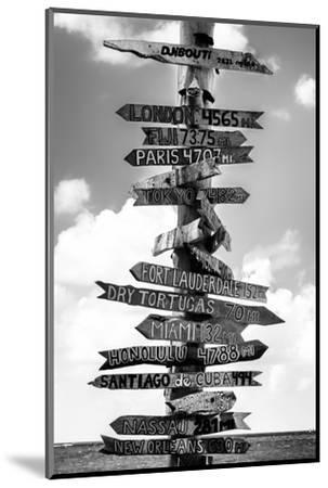 Destination Signs - Key West - Florida-Philippe Hugonnard-Mounted Premium Photographic Print