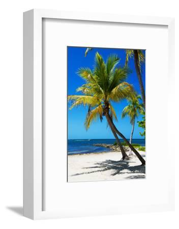 Palms on a White Sand Beach in Key West - Florida-Philippe Hugonnard-Framed Photographic Print