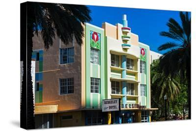 The Berkeley Shore Hotel in the Art-Deco District of Miami Beach - Florida-Philippe Hugonnard-Stretched Canvas Print