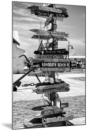 Destination Signs - Key West - Florida-Philippe Hugonnard-Mounted Photographic Print