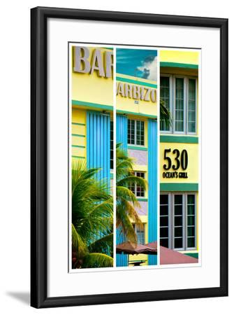 Triptych Collection - Art Deco Architecture - Ocean Drive - Miami Beach - Florida-Philippe Hugonnard-Framed Photographic Print