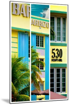 Triptych Collection - Art Deco Architecture - Ocean Drive - Miami Beach - Florida-Philippe Hugonnard-Mounted Photographic Print