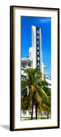 Art Deco Architecture of Miami Beach - The Esplendor Hotel Breakwater South Beach - Ocean Drive-Philippe Hugonnard-Framed Photographic Print