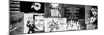 NYC Street Art - Patchwork of Old Posters of Broadway Musicals - Times Square - Manhattan-Philippe Hugonnard-Mounted Photographic Print