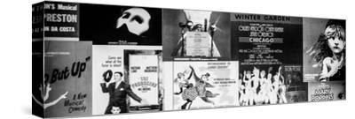 NYC Street Art - Patchwork of Old Posters of Broadway Musicals - Times Square - Manhattan-Philippe Hugonnard-Stretched Canvas Print