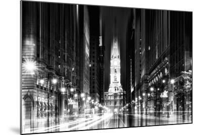 Urban Stretch Series - City Hall and Avenue of the Arts by Night - Philadelphia-Philippe Hugonnard-Mounted Photographic Print