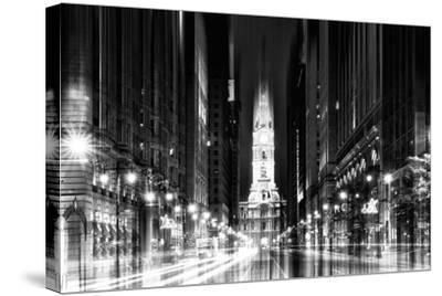 Urban Stretch Series - City Hall and Avenue of the Arts by Night - Philadelphia-Philippe Hugonnard-Stretched Canvas Print