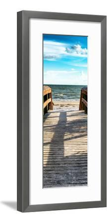 Boardwalk on the Beach at Sunset-Philippe Hugonnard-Framed Photographic Print