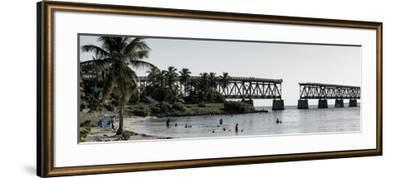 Old Bahia Honda Bridge Florida Keys - Bridges Roads-Philippe Hugonnard-Framed Photographic Print