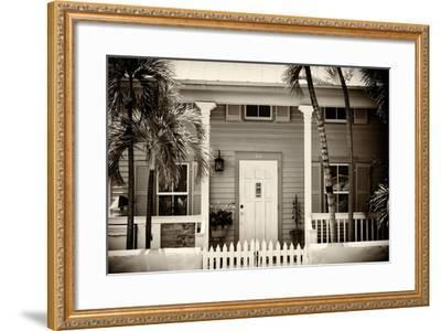 Key West Architecture - Heritage Structures in Old Town Key West - Florida-Philippe Hugonnard-Framed Photographic Print