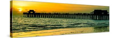 Naples Florida Pier at Sunset-Philippe Hugonnard-Stretched Canvas Print
