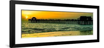 Naples Florida Pier at Sunset-Philippe Hugonnard-Framed Photographic Print