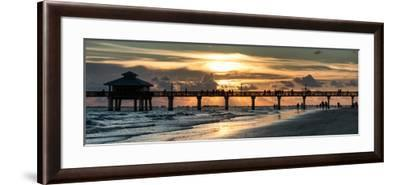 Fishing Pier Fort Myers Beach at Sunset-Philippe Hugonnard-Framed Photographic Print