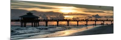 Fishing Pier Fort Myers Beach at Sunset-Philippe Hugonnard-Mounted Photographic Print
