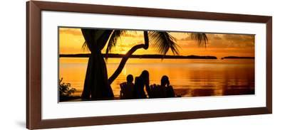 Family Silhouette at Sunset - Florida-Philippe Hugonnard-Framed Photographic Print