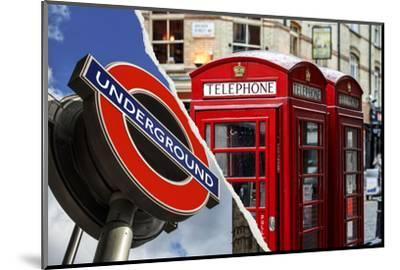 Dual Torn Posters Series - London-Philippe Hugonnard-Mounted Photographic Print