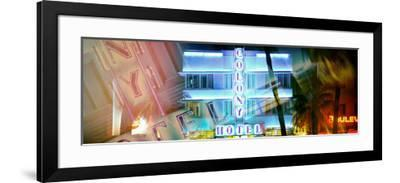 Miami Beach Art Deco District - The Colony Hotel by Night - Ocean Drive - Florida-Philippe Hugonnard-Framed Photographic Print
