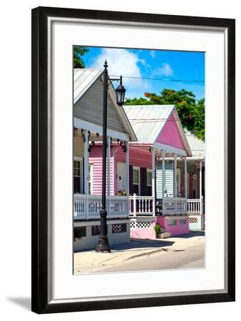 Key West Architecture - The Pink House - Florida-Philippe Hugonnard-Framed Photographic Print
