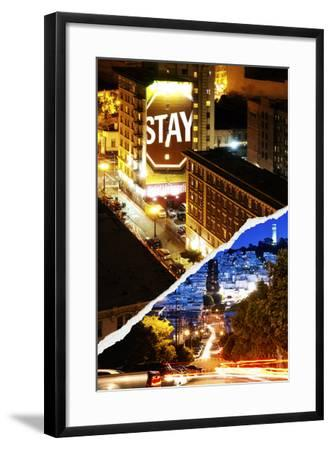 Dual Torn Posters Series - San Francisco-Philippe Hugonnard-Framed Photographic Print