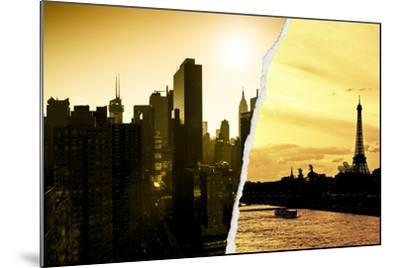 Dual Torn Posters Series - Paris - New York-Philippe Hugonnard-Mounted Photographic Print