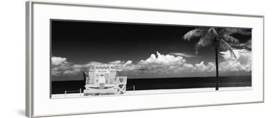 South Miami Beach Landscape with Life Guard Station - Florida-Philippe Hugonnard-Framed Photographic Print
