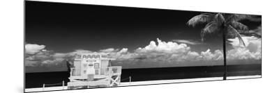South Miami Beach Landscape with Life Guard Station - Florida-Philippe Hugonnard-Mounted Photographic Print