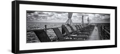 Pontoon with Deck Chairs - Key West - Florida-Philippe Hugonnard-Framed Photographic Print