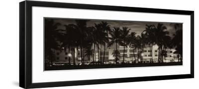 Buildings Lit Up at Dusk - Ocean Drive - Miami Beach-Philippe Hugonnard-Framed Photographic Print
