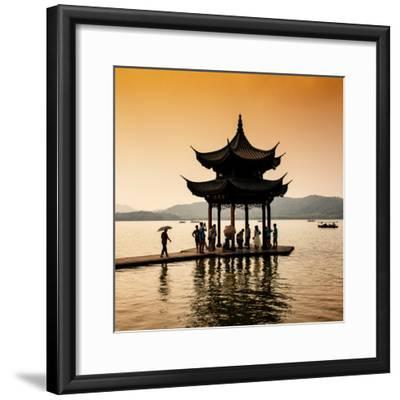 China 10MKm2 Collection - Water Pavilion at sunset-Philippe Hugonnard-Framed Photographic Print