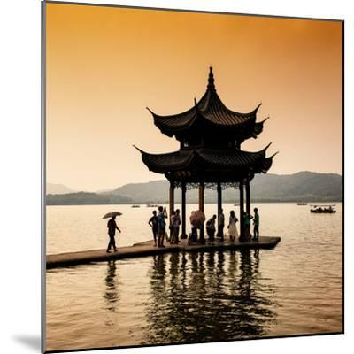 China 10MKm2 Collection - Water Pavilion at sunset-Philippe Hugonnard-Mounted Photographic Print