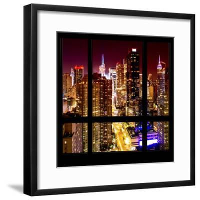 View from the Window - Midtown Manhattan Night-Philippe Hugonnard-Framed Photographic Print