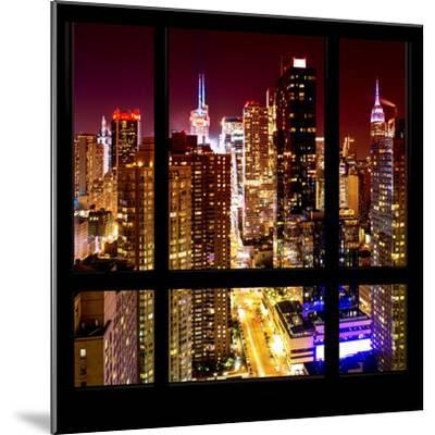 View from the Window - Midtown Manhattan Night-Philippe Hugonnard-Mounted Photographic Print