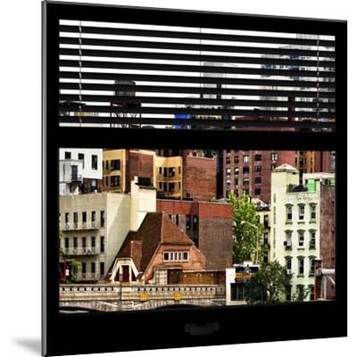 View from the Window - New York Architecture-Philippe Hugonnard-Mounted Photographic Print